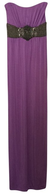 Preload https://item4.tradesy.com/images/tart-purple-beaded-strapless-glam-casual-maxi-dress-size-4-s-2301388-0-0.jpg?width=400&height=650