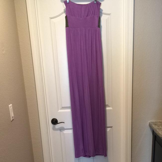Purple Beaded Maxi Dress by Tart