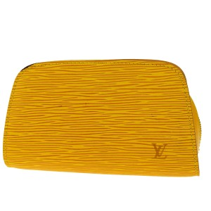 Louis Vuitton Yellow Epi Leather Cosmetic Case