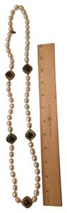 Chanel Chanel pearl and gold-plated Gripoix glass necklace