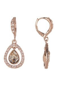 Givenchy Swarovski element crystals pear-Cut Crystal Orbital Drop Earrings