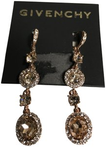 Givenchy Swarovski Rose Gold-Tone Pavé & Crystal Linear Drop E Earrings