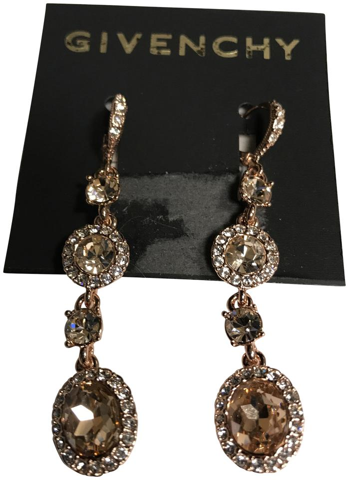 ef1d87ebe Givenchy Swarovski Rose Gold-Tone Pavé & Crystal Linear Drop E Earrings  Image 0 ...