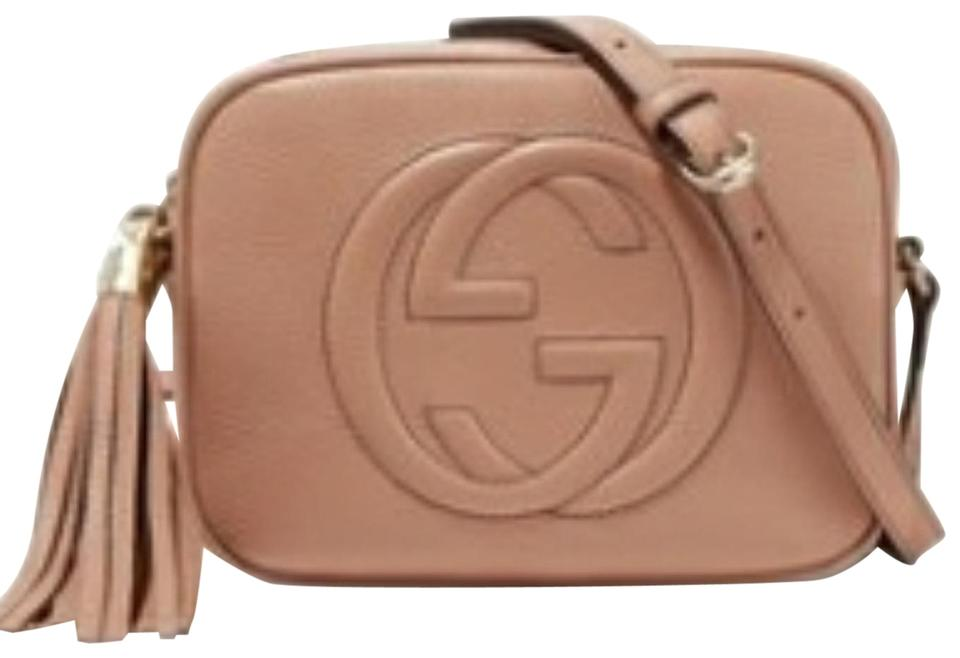 05c3cb3a9 Gucci Soho Disco - Gg Rose Beige Textured Leather Shoulder Bag - Tradesy