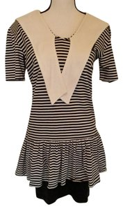 Rampage short dress Black, White Sailor Sailor Emblem Striped on Tradesy