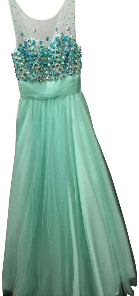 Riva Designs Mint Gown Nwt Long Formal Dress Size 4 S Tradesy