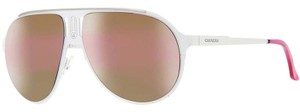 Carrera New Carrera Unisex Sunglasses 2C9 White Frame Purple Mirrored Lenses