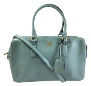 Tory Burch Satchel in Dusty Blue