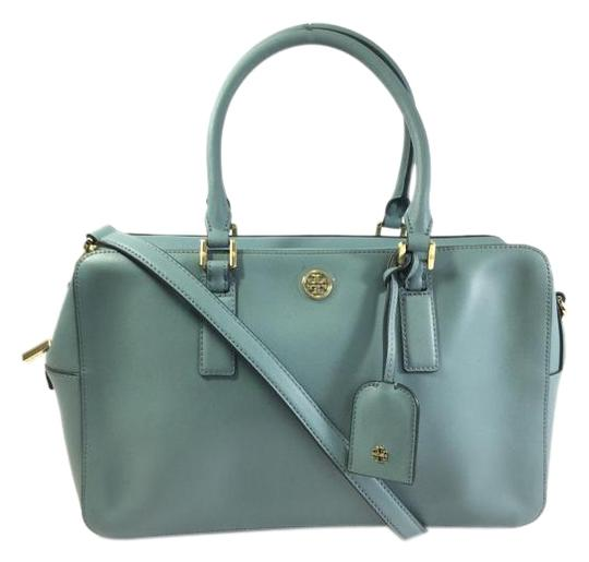 Preload https://item5.tradesy.com/images/tory-burch-robinson-square-dusty-blue-crossgrain-leather-satchel-2301494-0-2.jpg?width=440&height=440