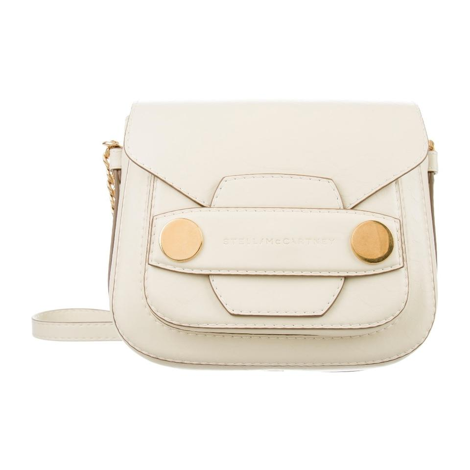 6ec5b67f0a63 Stella McCartney Popper Cream Vegan Leather Shoulder Bag - Tradesy