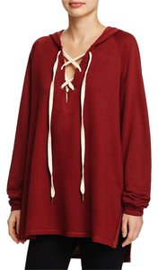 Project Social T Oversized Lace Pullover Sweatshirt
