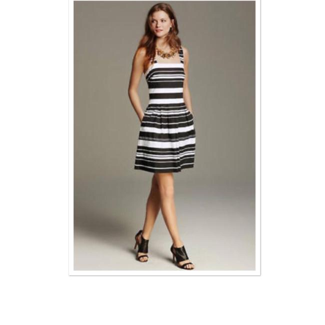 Banana Republic Black Amp White Striped Fit Flare Short