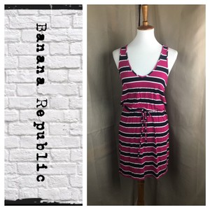 Banana Republic short dress Pink/Black/White on Tradesy