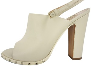 Valentino Garavani Spiked Rockstud Wedding Formal ivory Mules