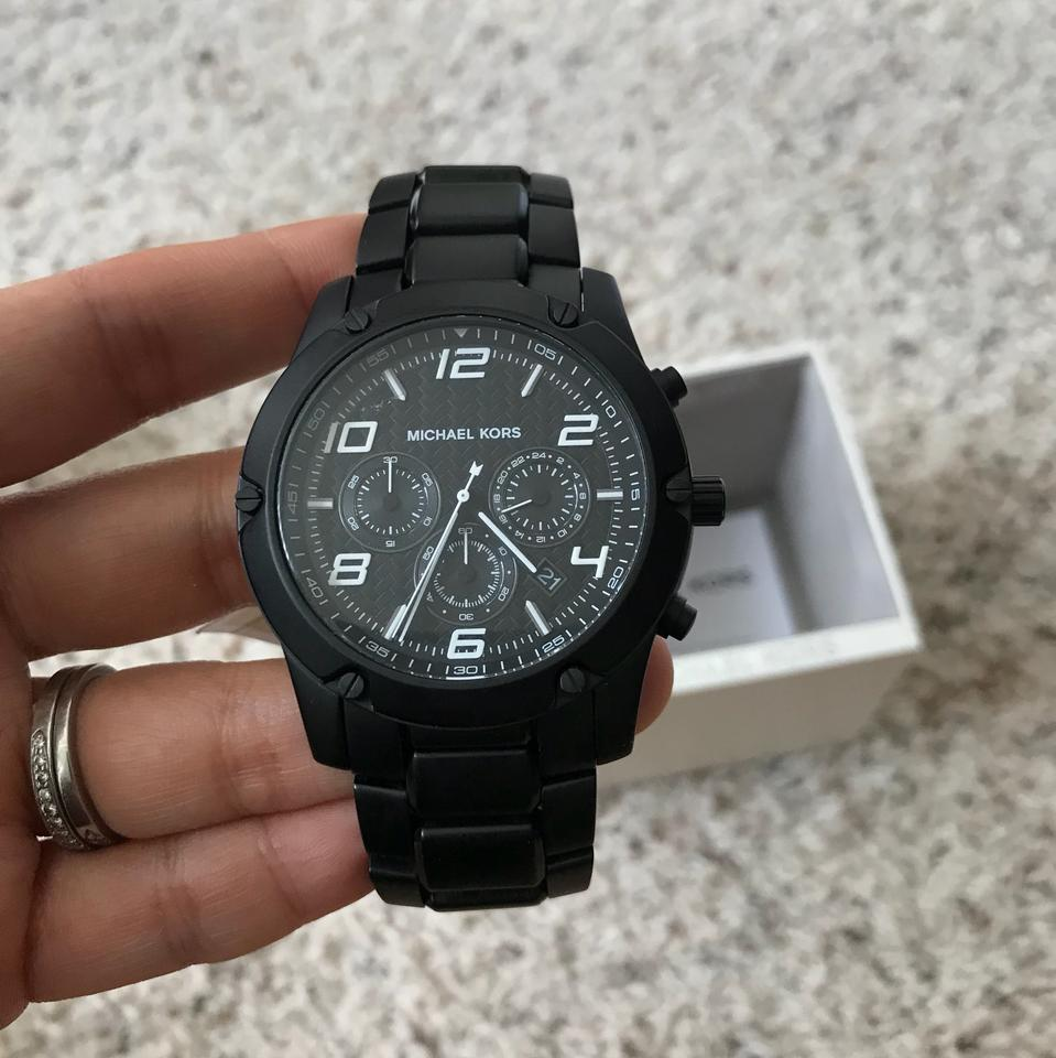 f9fef5be9613 ... Michael Kors Men s Chronograph Caine Black Watch MK8473 Image 11.  123456789101112