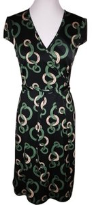 Julie Brown short dress Black/Green/Gold on Tradesy