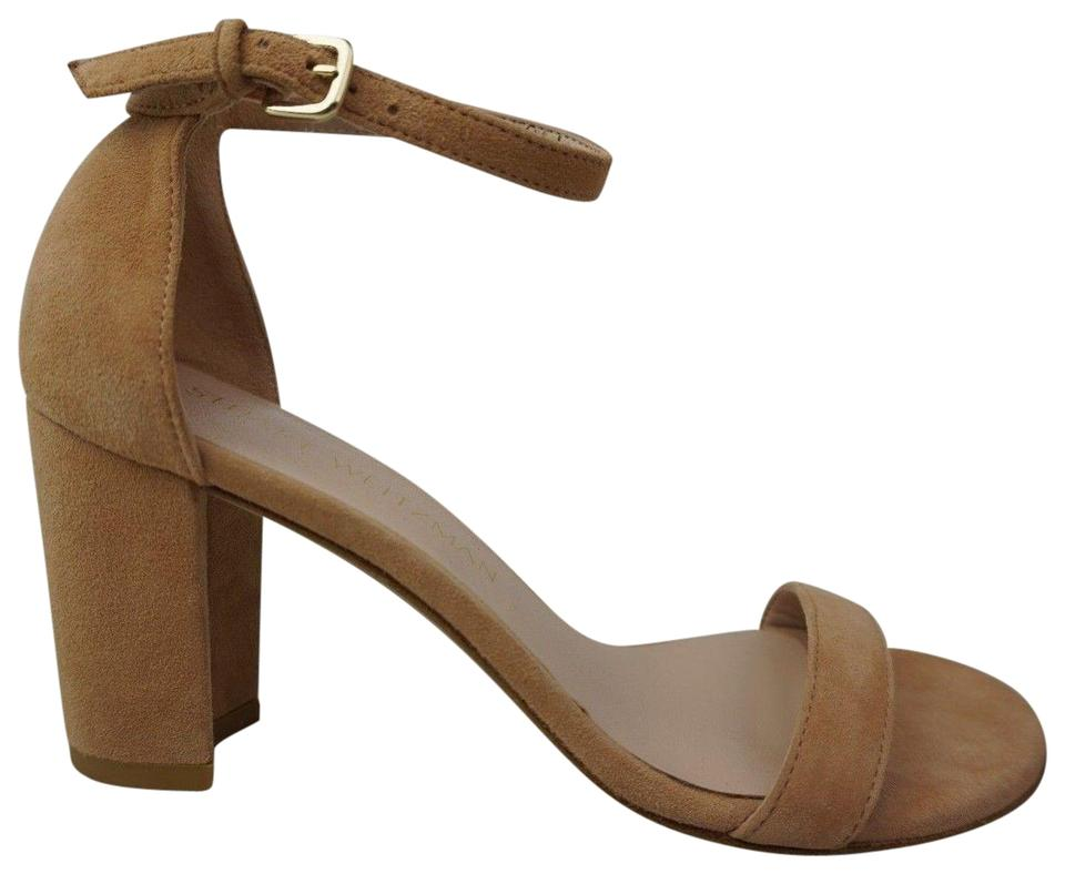 Stuart Ankle Weitzman Dusty Pink Nearlynude Ankle Stuart Strap Suede Sandals bd9b90