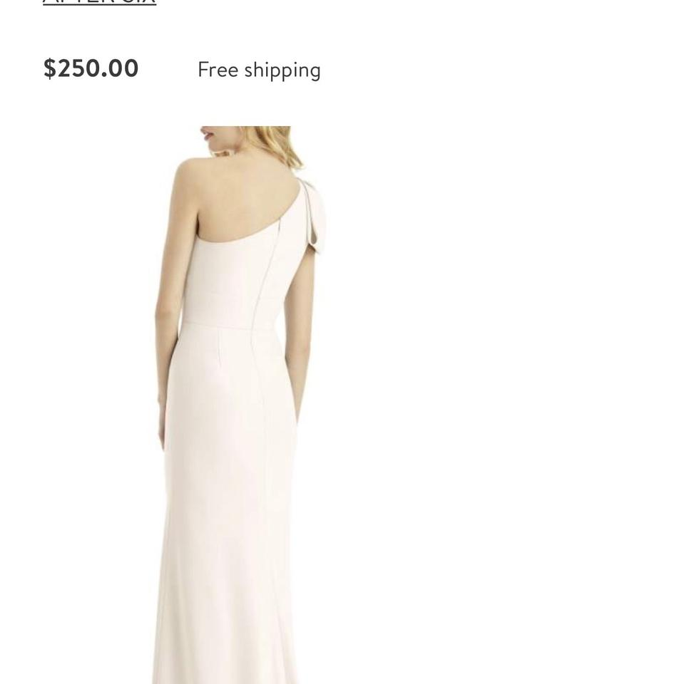 6a3b71aaf461 After Six Ivory Bow One Shoulder Gown Long Formal Dress Size 4 (S ...