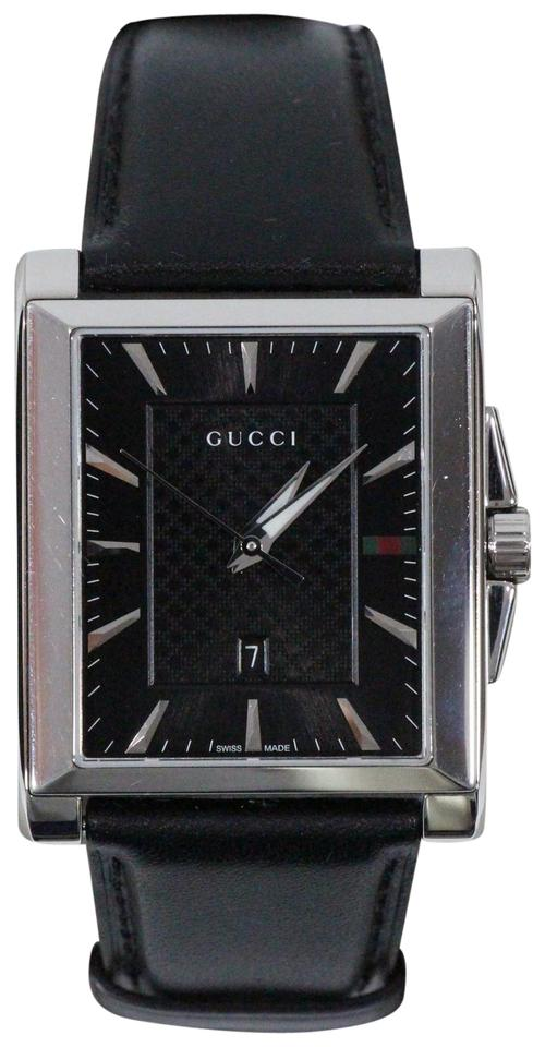 e4b64f7e31f Gucci Black 361116 Men s G-timeless Dial Rectangle Leather Watch ...