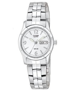 Citizen NWT Citizen Ladies' Watch in Silver WC729 model, silver tone dial