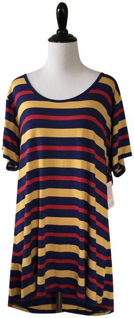 Item - Blue Red Gold Classic T Tee Shirt Size 24 (Plus 2x)