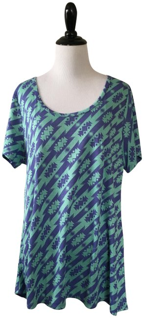 Item - Blue and Green Classic T Tee Shirt Size 18 (XL, Plus 0x)