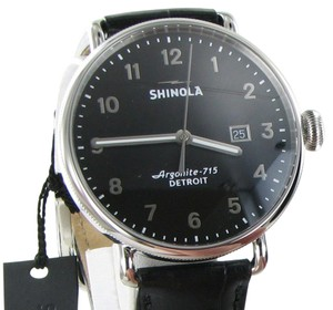 Shinola Canfield 43mm Black Dial Black Strap Mens Watch S0120018333