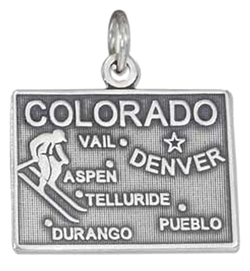 Unknown Sterling Silver Antiqued Colorado State Charm