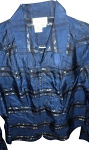 Coldwater Creek Top Blue multi