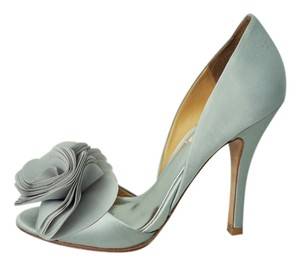 Other Satin Prom Wedding Silver Pumps