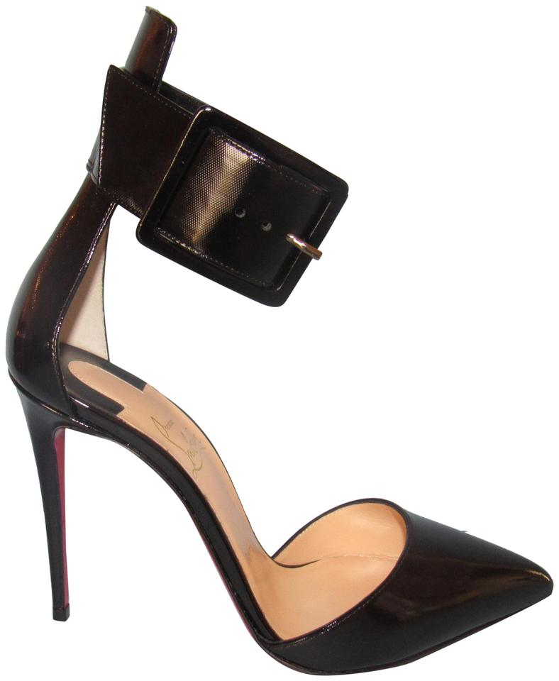 3eccf4d9277a Christian Louboutin Stiletto Ankle Strap Red Sole With Box black Pumps  Image 0 ...