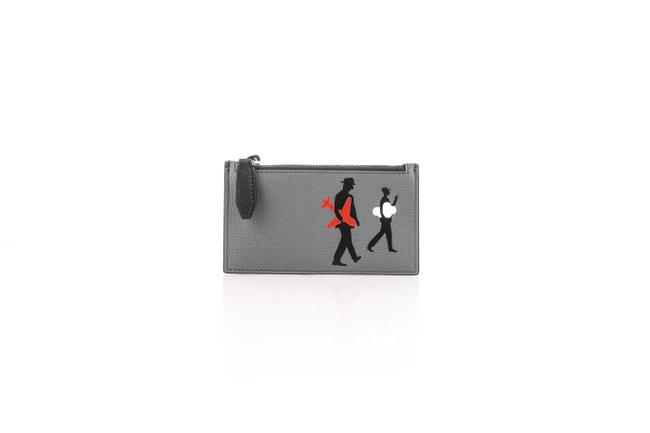 Item - Grey Silhouette Zipped Card Holder Wallet