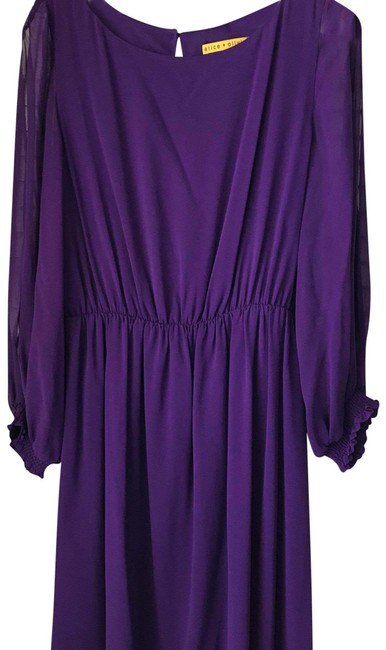 Item - Purple 107677 Mid-length Night Out Dress Size 8 (M)