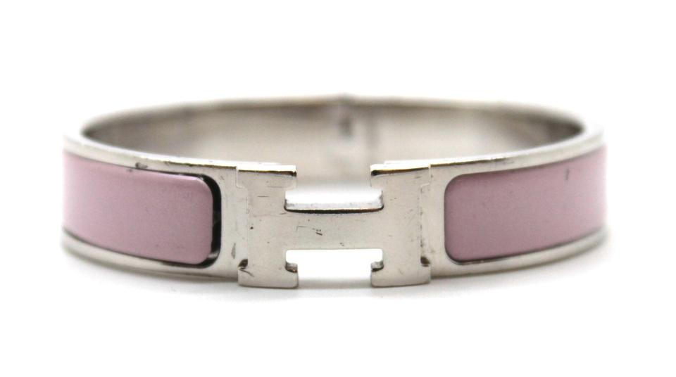 Pink Thin Enamel Metal Bangle