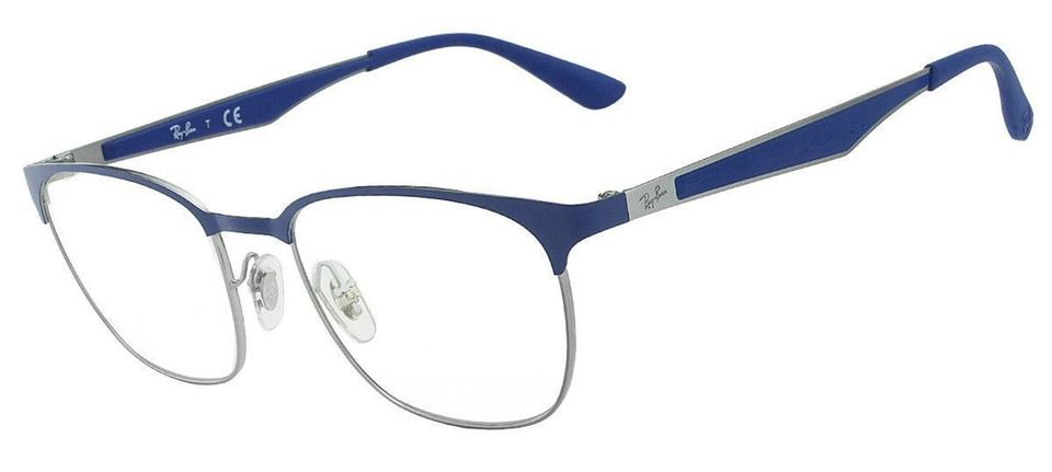 Ray-Ban Matte Blue & Demo New Men Eyeglasses Rx6356 2876 Frame Lens ...