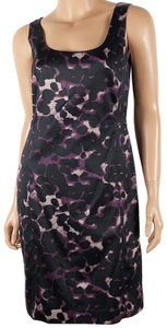 Ann Taylor Silk Blend Sleeveless Scoop Neck Sheath Dress