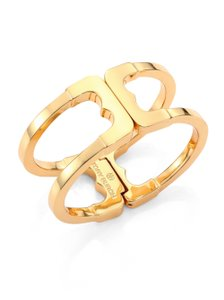 Tory Burch Tory Burch New Gemini Link Gold Hinged Cuff