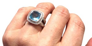 David Yurman Blue Topaz and diamond 11mm Albion David Yurman ring