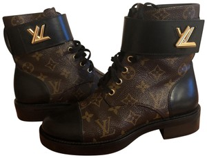 Louis Vuitton black and brown Boots