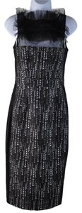 Thomas Wylde Nwt Carpe Diem Silk Ruffle Bodycon Fitted Sleeveless Dress