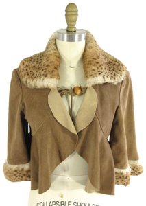 David Rodriguez Vintage Suede Deer Rabbit Cape