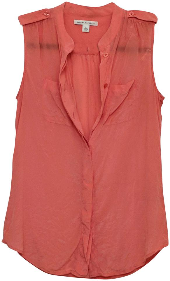 29b81680c5e613 Banana Republic Pink Silk Sleeveless Blouse Size 2 (XS) - Tradesy