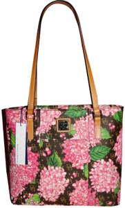 Dooney & Bourke Lexington Small Floral Signature Tote in Pink