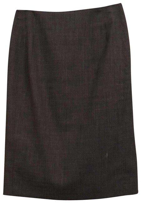 Item - Grey Wool Suiting Skirt Size 4 (S, 27)