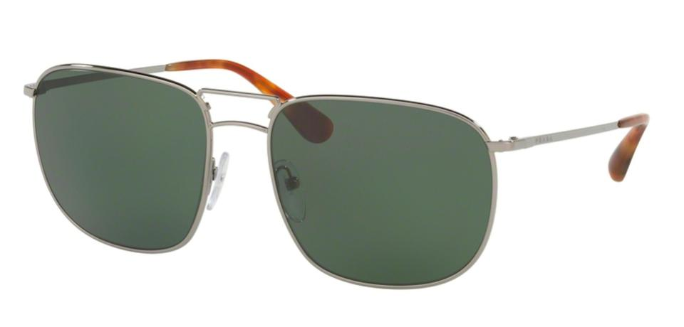 86a093c1096aa Prada Silver   Polarized Lens Free 3 Day Shipping Spr 52t 5av6p0 New  Aviator Sunglasses
