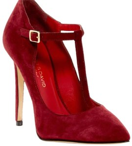 Charles David Bordeaux Red Pumps