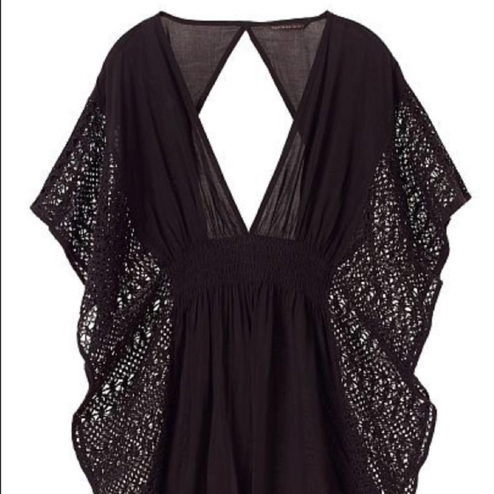5b72a83ded21a Victoria s Secret New Black Caftan Cover-up Sarong Size 2 (XS) - Tradesy