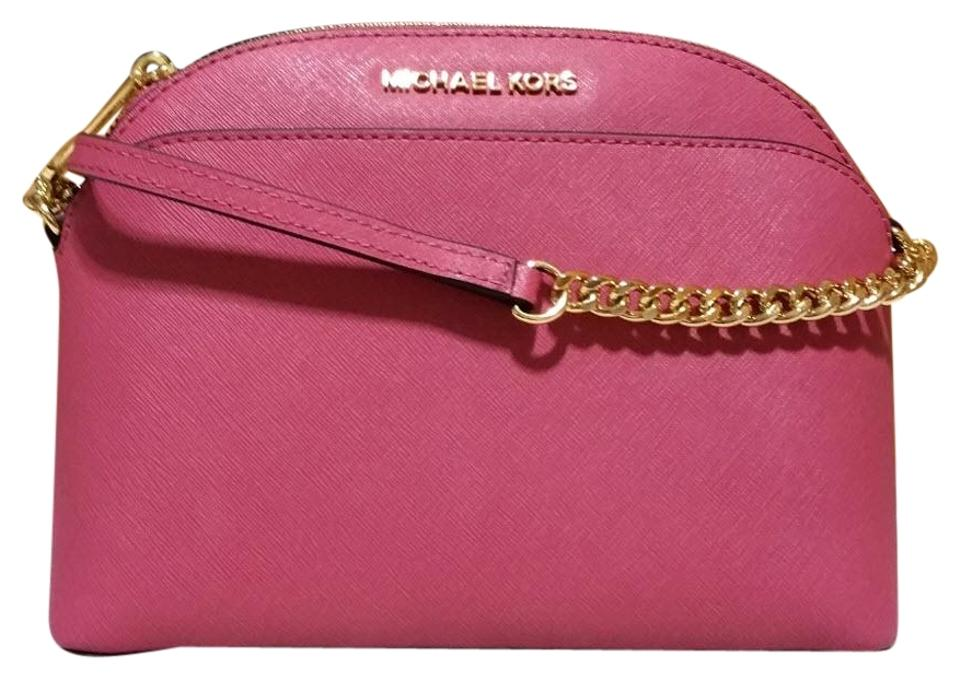 c1512be7d3ca Michael Kors Emmy Pink Leather Cross Body Bag 58% off retail