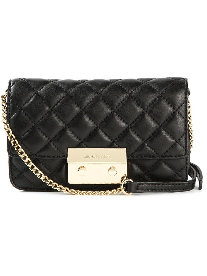 59ae1a9c91e3 Michael Kors Sloan Quilted Black Leather Cross Body Bag - Tradesy