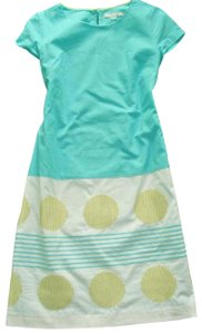645351617f Boden short dress Aqua Blue Embroidered Cap Sleeve on Tradesy